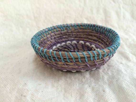 Chanukah Gift Violet And Blue Woven From Dune by Sheripineneedle