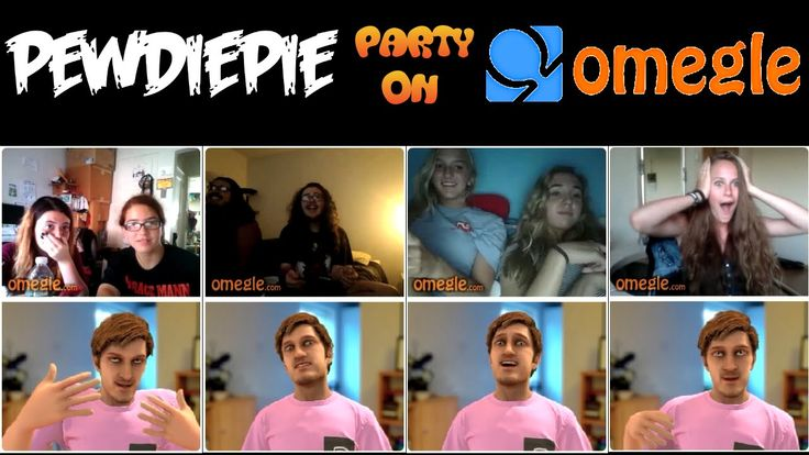 """""""PewDiePie Party on Omegle!"""" [Fun with FaceRig]"""