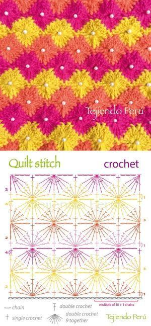 Crochet: quilt or diamond stitch diagram! by gretchen