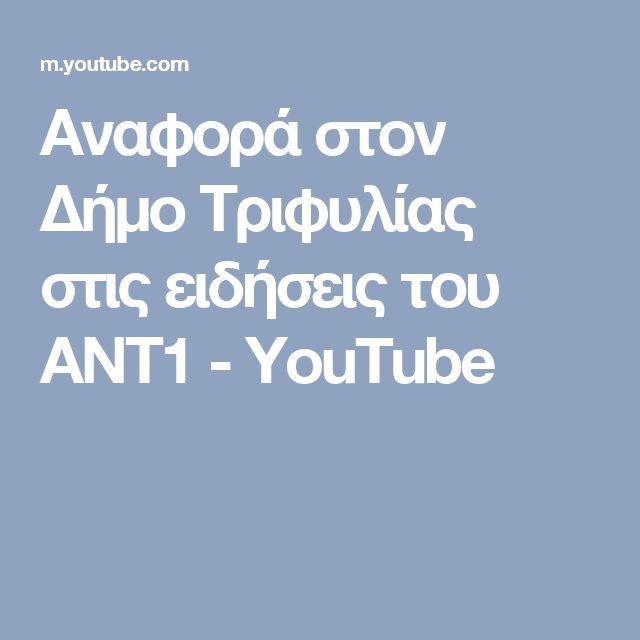 Αναφορά στον Δήμο Τριφυλίας στις ειδήσεις του ΑΝΤ1 - YouTube