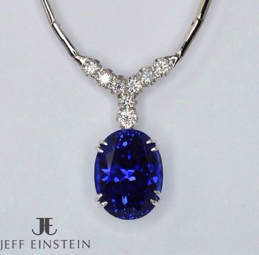 Another magnificent custom manufactured piece crafted by our on-site workshop.  Featuring a 21.4 carat oval Tanzanite with complimenting diamonds. Delete Commentjeffeinsteinjewellery#jeffeinsteinjewellery #doublebay #sydney #diamonds #finejewelry #tanzanite #brilliant #pendant #jewelry #jewellery #whitegold #fashion #style