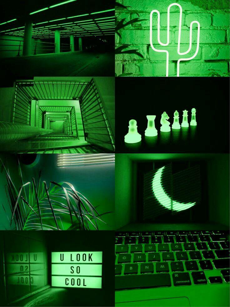 Neon Green Aesthetic Wallpaper Desktop