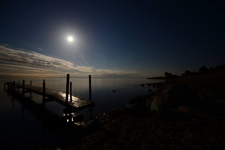Moonlight by the seaside. From the beautiful Odsherred in Denmark.