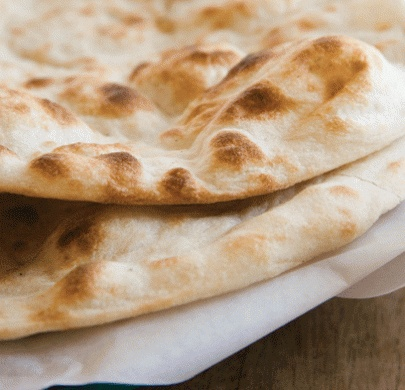 Garlic and coriander naan bread recipe | Recipes with naan ...