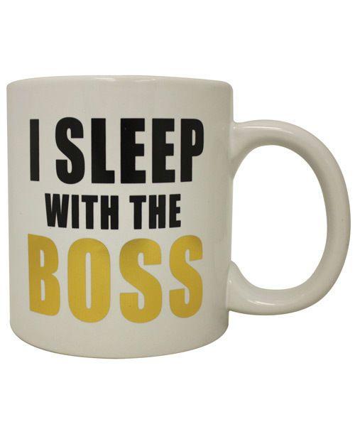 Attitude Mug I Sleep with the Boss Coffee Cup 22oz Funny Gift Work Career Job #ForumNovelties