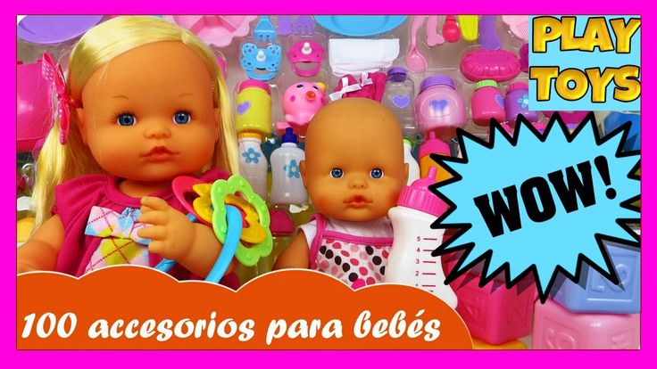 Baby doll toys 100 baby accessories   playing bathtime, feeding, potty, diaper change