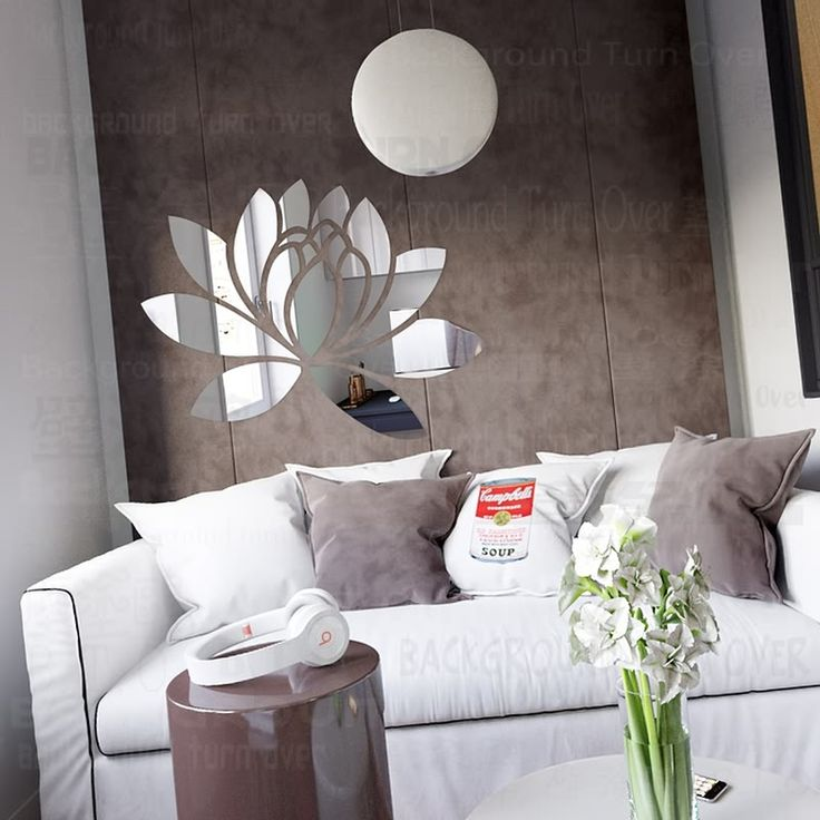 Cheap wall art, Buy Quality wall sticker flower directly from China mirror decor Suppliers: Creative Elegant Lotus 3D Acrylic Mirror Decorative Wall Stickers Flower Home Bedroom Decor Living Room Decoration Wall Art R063