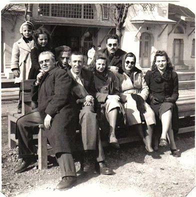 Bedri Rahmi Eyüboğlu, Abidin Dino, Güzin Dino, Rozsi ve Bela Szabo ve oğulları Matika, Sabahattin Ali, Orhan Veli, (1943)