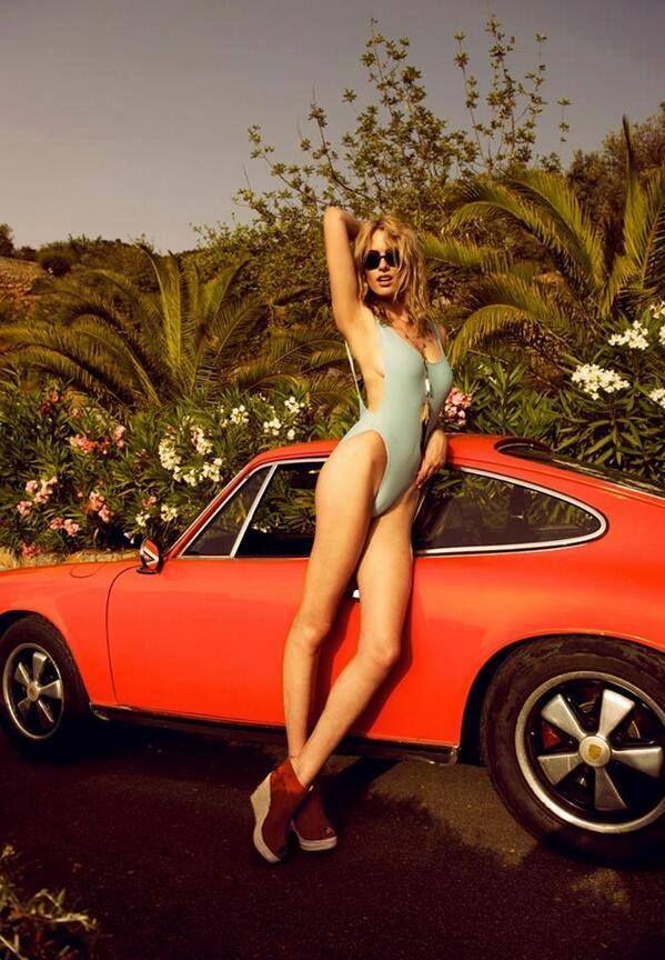 Chicks likes Porsche #girl #porsche #vintage