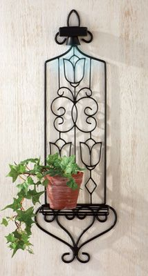 Garden Plant Holder with Solar Spotlight - use two or more to light a romantic pathway to your patio or garden escape