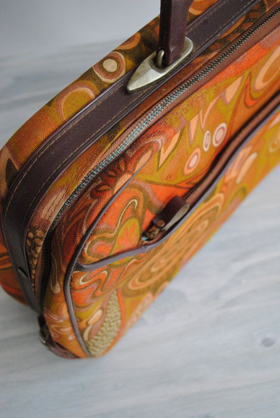 Vintage Soft Sided Small Suitcase by LittleDogVintage on Etsy