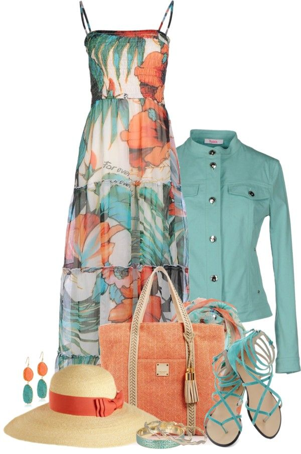 25 Maxi Dress Outfits Polyvore Combinations - no hat, change the shoes, and I could probably pull this off for the office