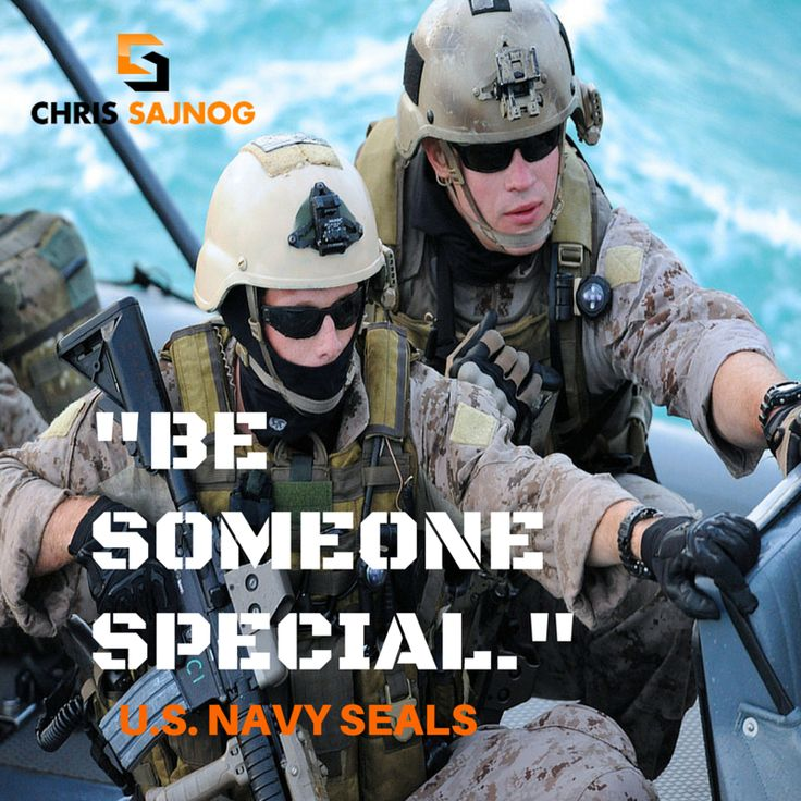 """Be someone special."" - US Navy SEALs  #USN #USNavySEALs #NavySEALs #Frogmen #Motivation #Quotes #QOTD #Inspiration"