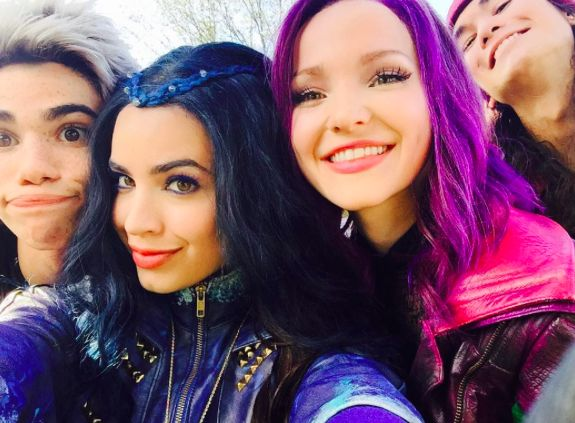 Cast of Descendants at the Disney Parade in Florida
