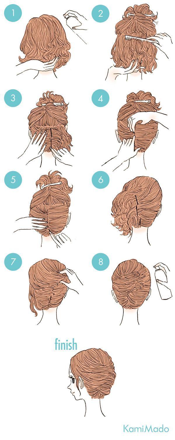 penteado em cabelo médio