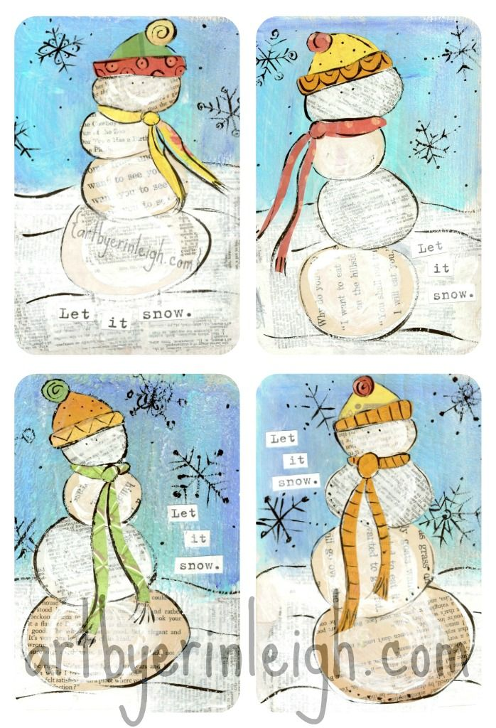 Art by Erin Leigh: Christmas Mixed Media Art & Fall Craft Fairs