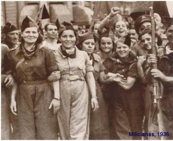 Women anarchist militias in the Spanish Civil War.