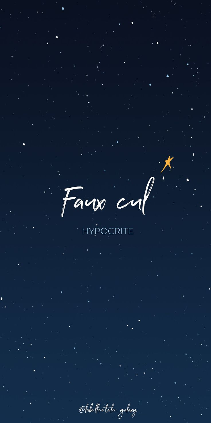 ✨ Faux cul ✨ Hypocrite ✨ *Literal meaning: Fake ass 🚫 🍑 – ✨ Bonjou… – French