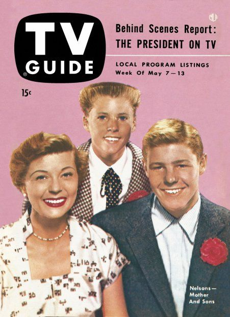 TV Guide, May 7, 1954 - Harriet Nelson, Ricky Nelson, and David Nelson