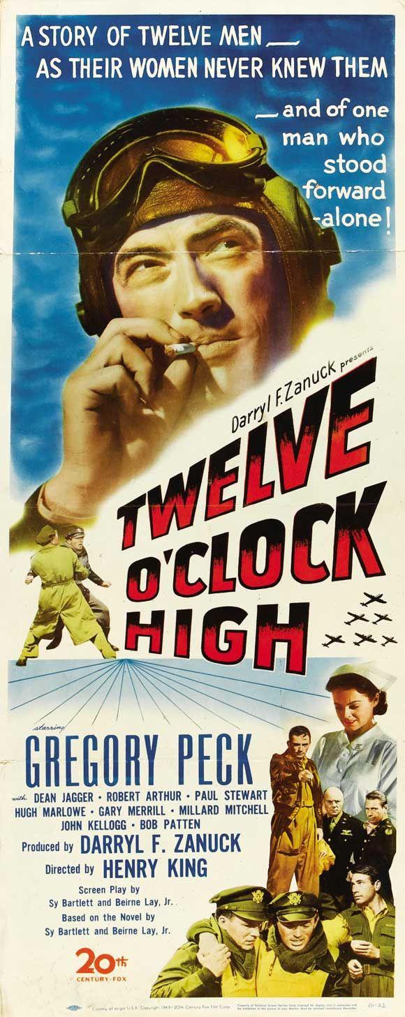 Twelve O'Clock High (1949) Gregory Peck, Dean Jagger, Hugh Marlowe, Gary Merrill, Millard Mitchell
