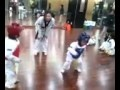 The most intense Taekwondo Fight Ever...Caution, will make you...giggle!!!