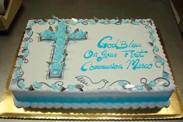Cute baptism cake idea!