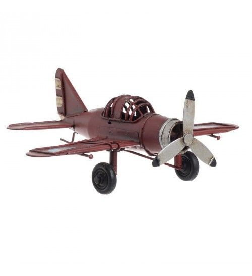 METALLIC PLANE IN RED COLOR 17X14_5X6
