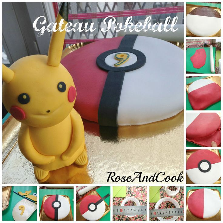 gateau pokeball anniversaire pokemon tuto en images rose cook pok mon et roses. Black Bedroom Furniture Sets. Home Design Ideas