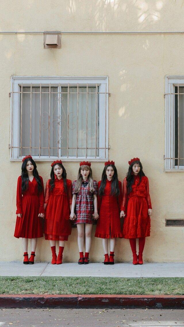 Red Velvet Peek A Boo Portrait Pinterest Red Velvet Red And