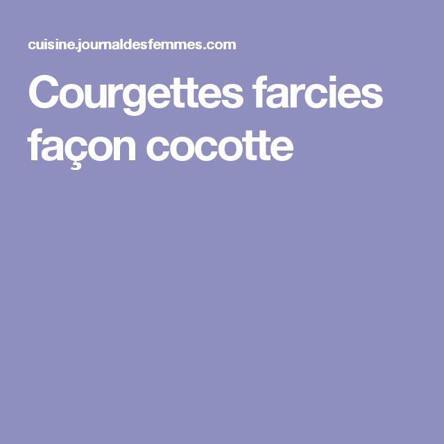 Courgettes farcies façon cocotte