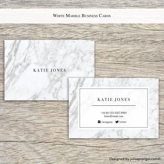 100x White Marble Business Cards £57.60