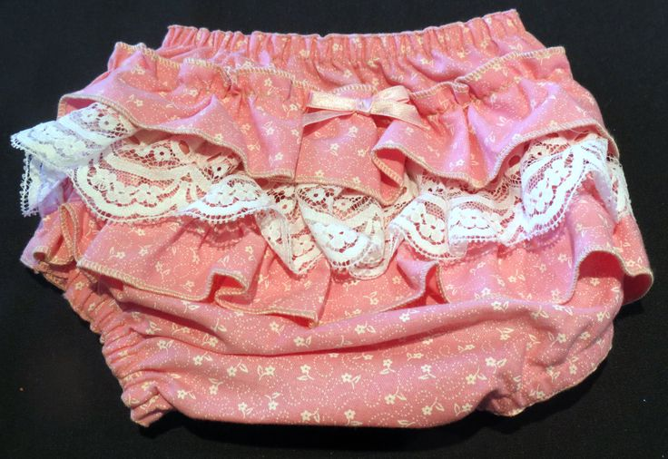Ruffle Bottom Bloomers, Size 000 by PrettyLittlePeachs on Etsy