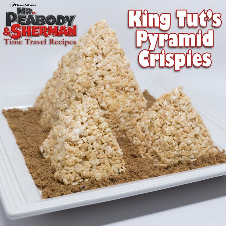 """""""I consider this creation to be one of the Seven Wonders of the Food World. Have fun building these gigantic pyramids out of crispy rice cereal!"""" Follow Mr. Peabody's Pinterest Board for more Time Travel Inspired Recipes!"""