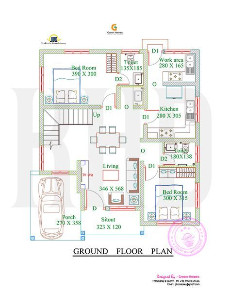 1738 square feet 4 bedroom double floor sloping roof home design and elevation - Designer House Plan 120 165