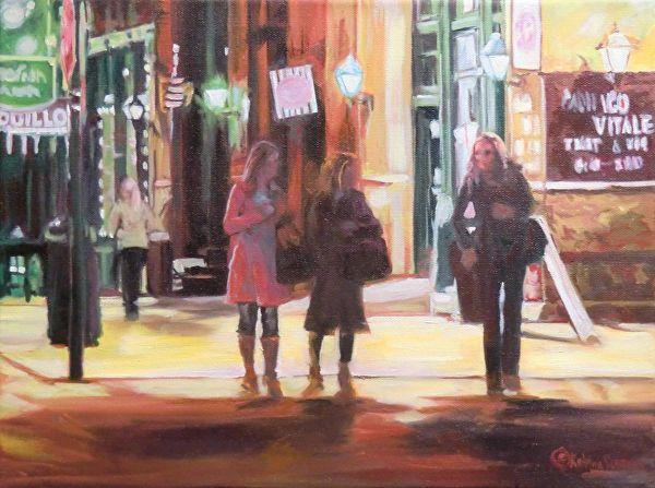 Night on the Town by Katrina MethotSwanson  ~ 16 x 12