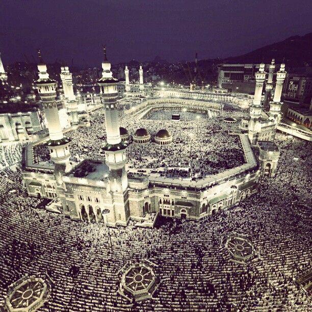 Extraordinary photos show millions of joyful Muslims descending on Mecca's Grand Mosque for start of Islam's annual #hajj...