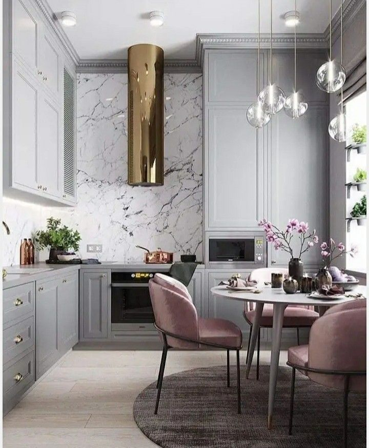 Pink and Grey kitchen!!!
