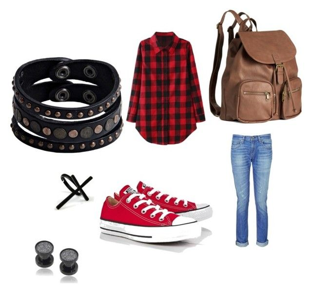 Sin título #10 by dancbc on Polyvore featuring moda, rag & bone, Converse, H&M, Replay, Misbehave and Emi Jewellery