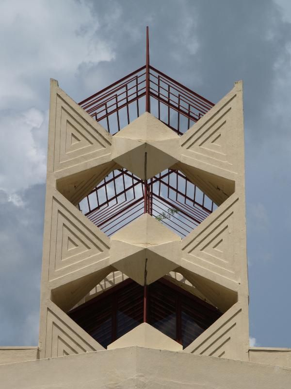 Lakeland, Florida: Florida Southern College: Annie Pfeiffer Chapel, bell tower exterior