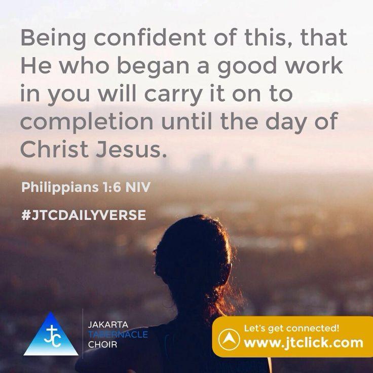 Philippians 1:6 #JTCDailyVerse