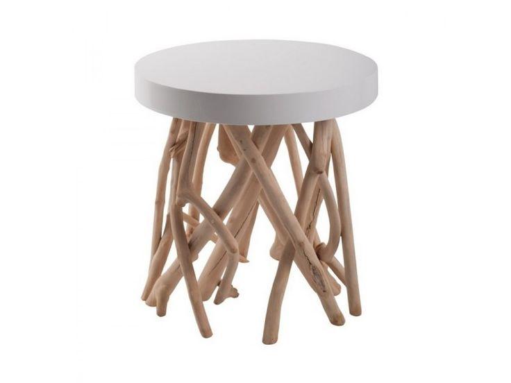Table basse bois flotté scandinave cumi zuiver - couleur - blanc 4000615 - pas cher ? C'est sur Conforama.fr - large choix, prix discount et des offres exclusives Table sur Conforama.fr