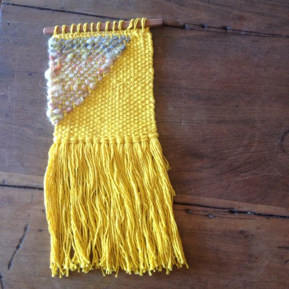 Cotton and Mohair Woven Wall hanging by handspunandweaving on Etsy