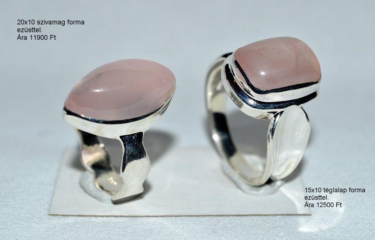 Rózsakvarc gyűrűk