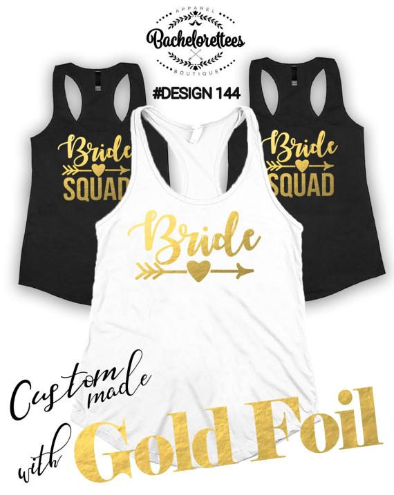 Bride Squad shirts Bridal party shirts by Bachelorettees on Etsy