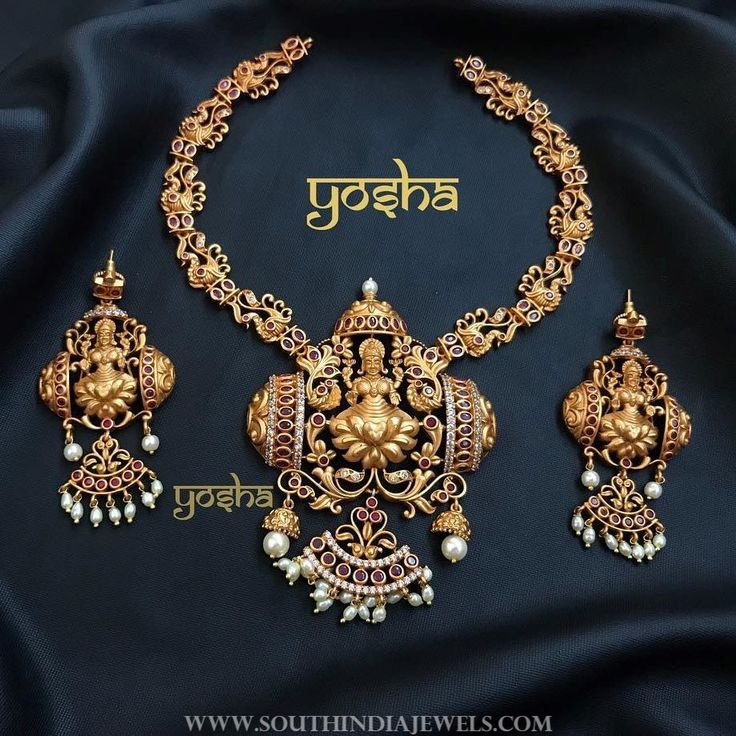Traditional+Temple+Necklace+Set