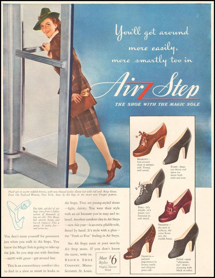 Air Step Shoe Ad By The Brown Shoe Company Of St. Louis, Found In