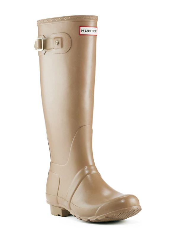 Tall Wellington Boot | Rubber Rain Boots | Hunter Boot Ltd  Cafe latte hunter boots $135  Good color, neutral, and not too intense for summer either
