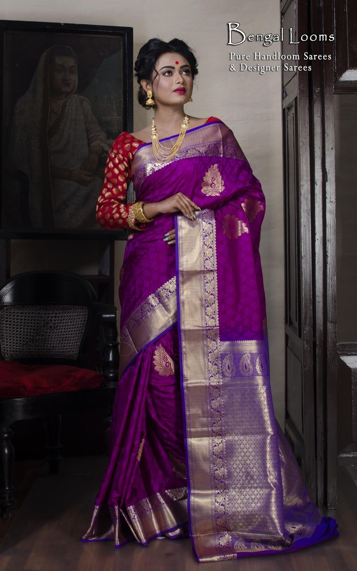 Art Silk Kanchipuram Saree Available For Sale From Bengal Looms