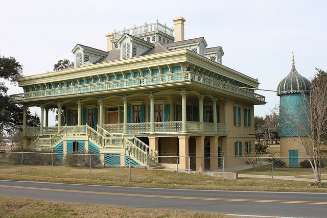 San Francisco Plantation in St. John the Baptist Parish, west of New Orleans built 1850. It is the most elaborate of the River Road plantations.
