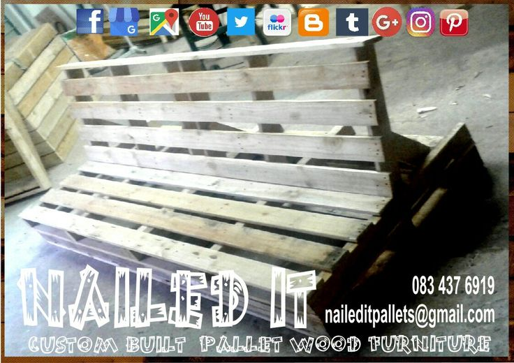 Custom built Pallet wood 4 seater patio bench. Raw wood finish. Just add cushions.  #palletfurniture #patiofurniture #palletbench #custompalletfurniture #naileditpalletfurniture #palletfurnituredurban #custombuiltpalletfurniture #palletwoodfurniture #outdoorpalletfurniture #patiopalletfurniture